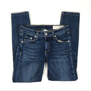 Rag & Bone Low Rise Skinny Jeans Size 25